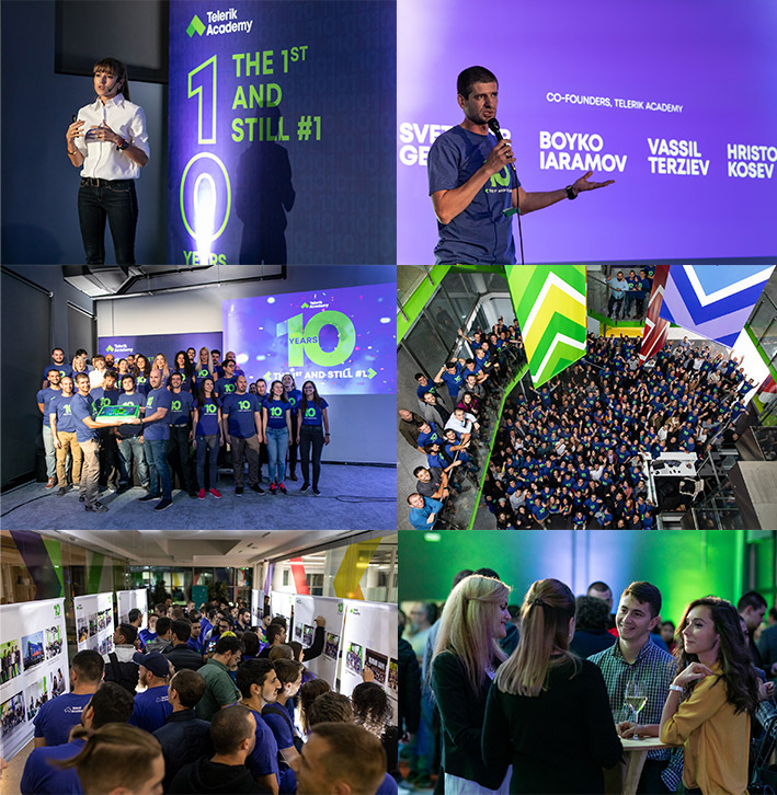 Collage Telerik Academy event