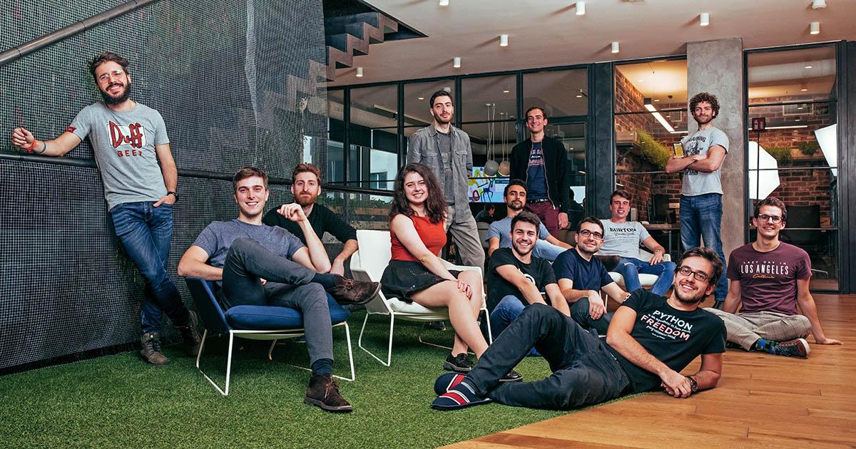 The Bending Spoons team with Bilyana Telerik Academy Alpha Java