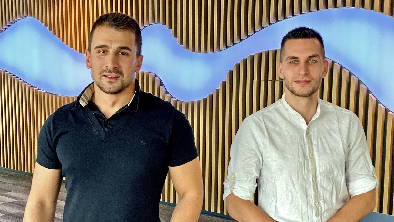 Svetoslav and Anton from Experian, Telerik Academy Alpha
