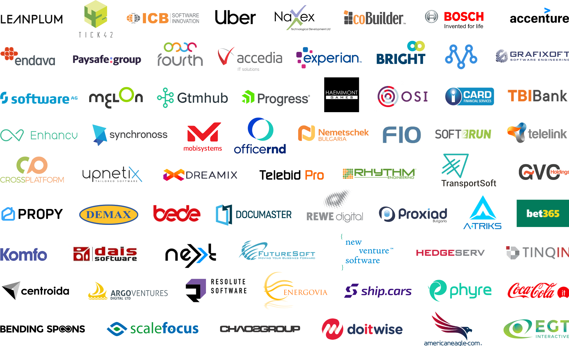 Image with logos of the partners of Telerik Academy