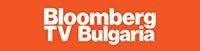 logo of bloomberg tv bulgaria on a orange background