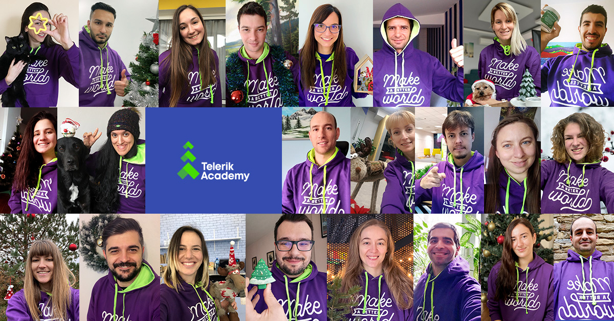 Collage of the Telerik Academy team