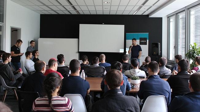 telerik academy alpha students visit uber